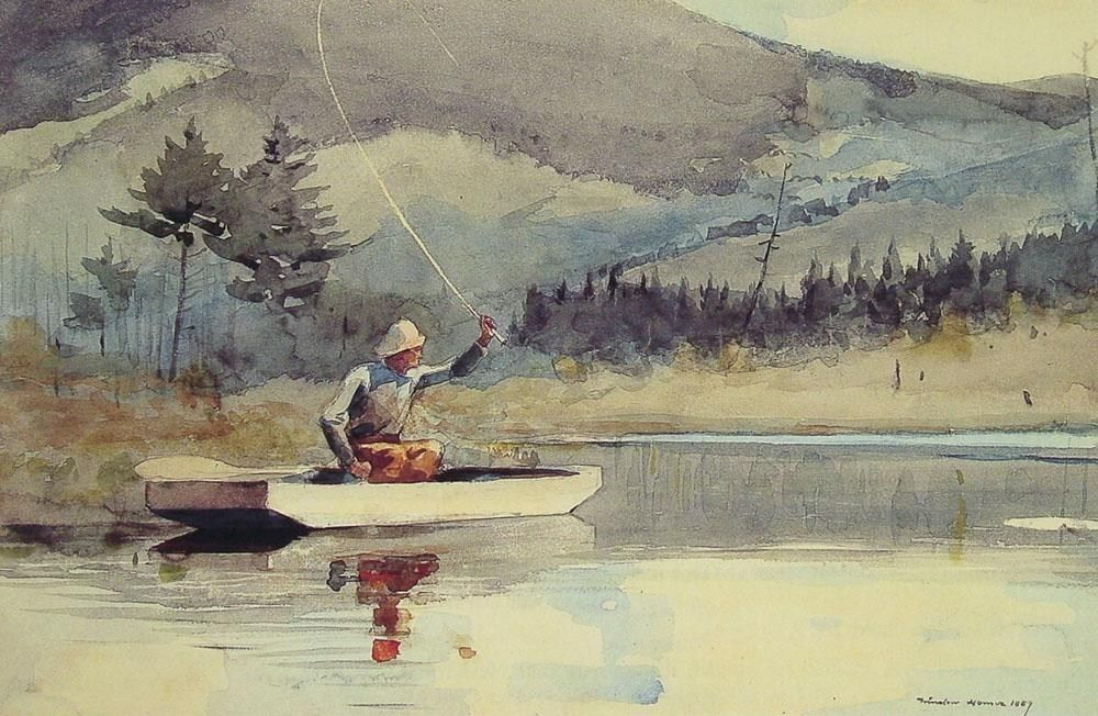 Winslow Homer A Quiet Pool on a Sunny Day