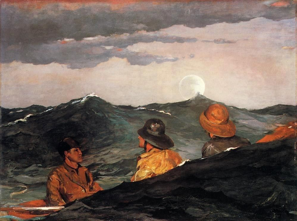 Winslow Homer Kissing the Moon