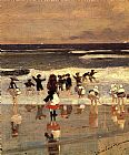 Winslow Homer Beach Scene painting