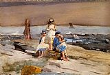 Winslow Homer Children on the Beach painting