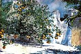 Winslow Homer Orange Tree Nassau painting