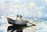 Winslow Homer Rowboat painting
