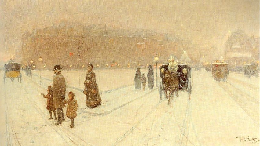 childe hassam A City Fairyland