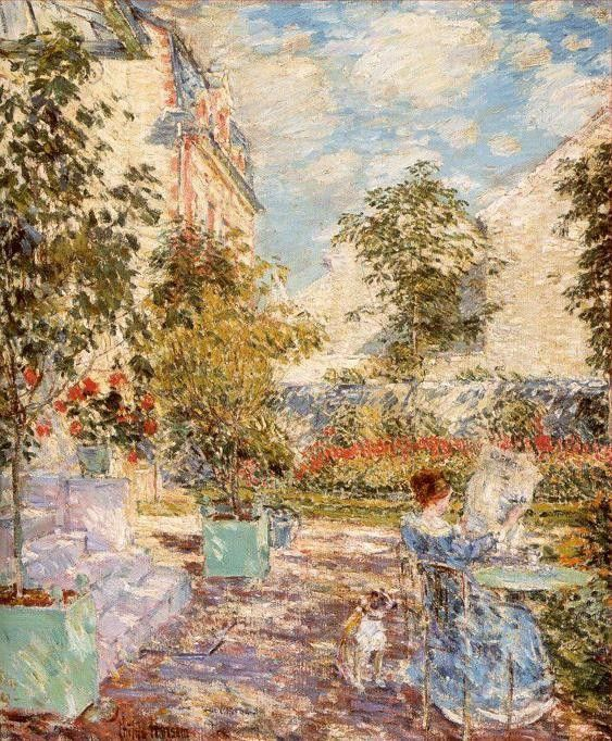 childe hassam In a French Garden
