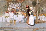 childe hassam At the Florist painting