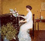 Piano paintings - At the Piano by childe hassam