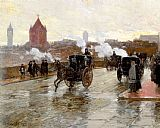 childe hassam Clearing Sunset painting