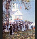 childe hassam County Fair New England painting
