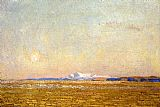 childe hassam Moonrise at Sunset, Harney Desert painting