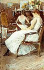 childe hassam Mrs. Hassam and Her Sister painting