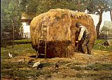 childe hassam The Barnyard painting