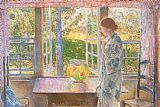 childe hassam The Goldfish Window painting