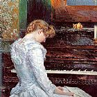 childe hassam The Sonata painting