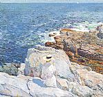 childe hassam The South Ledges Appledore painting