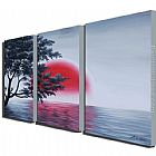 landscape Blood Moon painting