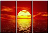 landscape Red Sunset painting