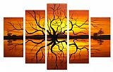 landscape Sunset Reflection painting