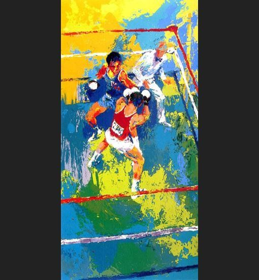 Leroy Neiman Olympic Boxing Moscow 1980