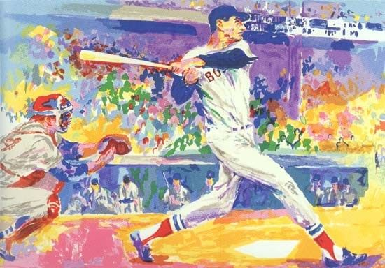 Leroy Neiman Ted Williams The Splendid Splinter