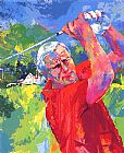 Golf paintings - Arnold Palmer at Latrobe by Leroy Neiman