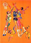 Leroy Neiman Basketball painting
