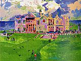 Golf paintings - Clubhouse at Old St. Andrews by Leroy Neiman