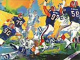 Leroy Neiman Cowboys Bills Superbowl painting