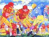 Leroy Neiman Cross Town Rivalry 1967 painting