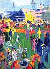 Leroy Neiman Derby Day Paddock painting