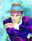 frank at rao's Paintings - Frank Sinatra The Voice