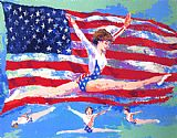 Leroy Neiman Golden Girl painting