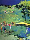Golf paintings - Golf Landscape by Leroy Neiman