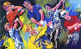Leroy Neiman Golf Winners painting