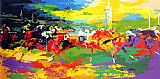 Horse Racing paintings - Kentucky Derby by Leroy Neiman