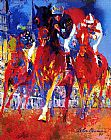 Horse Racing paintings - Kentucky Racing by Leroy Neiman