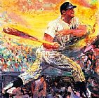 Leroy Neiman Mickey Mantle painting