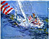Leroy Neiman Nantucket Sailing painting