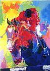 Leroy Neiman Olympic Jumper painting