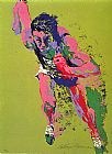 Leroy Neiman Olympic Runner painting