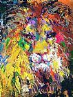 Leroy Neiman Portrait of the Lion painting