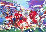 Leroy Neiman Post-Season Football Classic painting