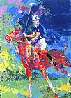 Horse Racing paintings - Prince Charles At Windsor by Leroy Neiman