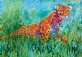Leroy Neiman Prowling Leopard painting