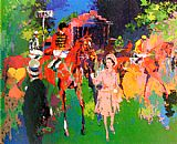 Horse Racing paintings - Queen at Ascot by Leroy Neiman