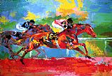 Horse Racing paintings - Race of the Year by Leroy Neiman