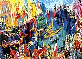 Venice paintings - Regatta of the Gondoliers by Leroy Neiman