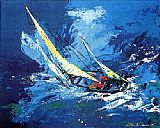 Leroy Neiman Sailing painting