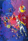 Leroy Neiman Satellite Football painting