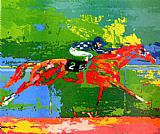Horse Racing paintings - Secretariat Big Red by Leroy Neiman