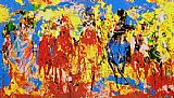 Horse Racing paintings - Stretch Stampede by Leroy Neiman